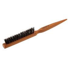 Щётка для начёса с натуральной щетиной светлая